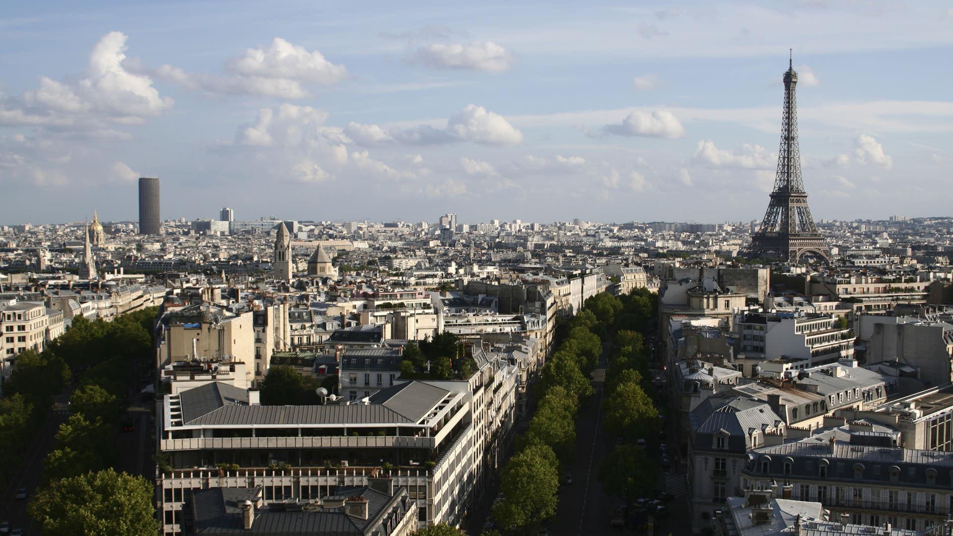 Vue ensemble sur Paris