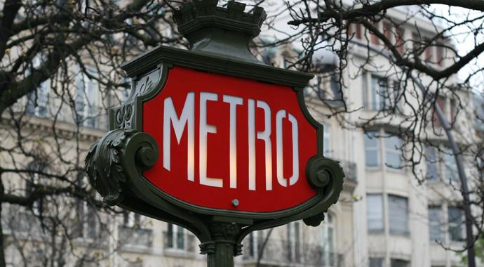 Panneau de metro